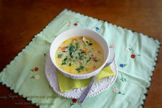 supa de mazare cu galuste, reteta supa mazare