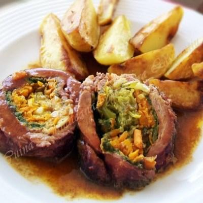 Rulada de carne si legume