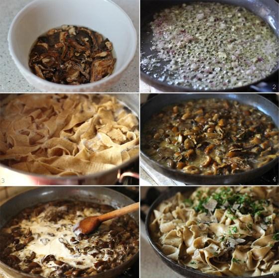 preparare sos de ciuperci pentru paste
