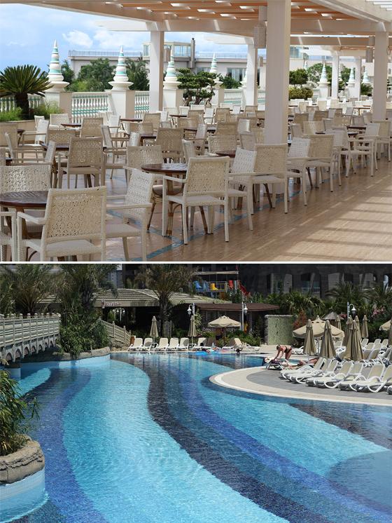 royal holiday palace terasa si piscina