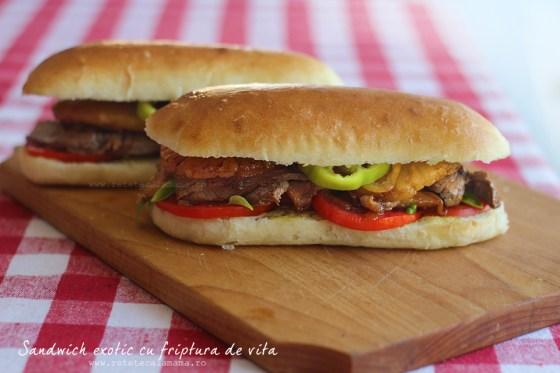 sandwich exotic cu friptura de vita 2 1