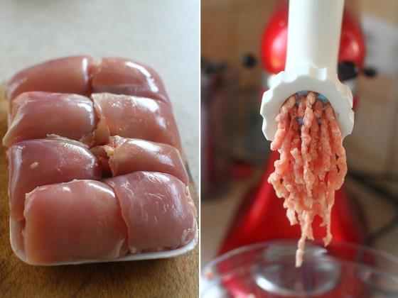 preparare chiftele cu pui si dovlecel