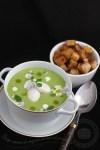 supa crema de mazare cu oua de prepelita-1