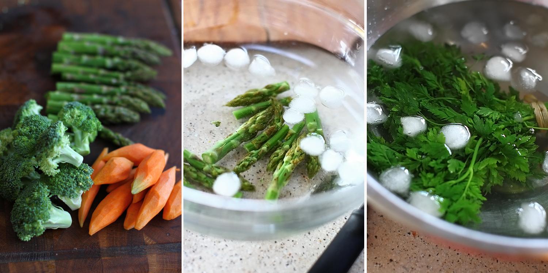 crap cu legume si praz crocant - preparare 2