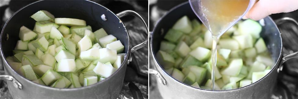 preparare supa crema de dovlecei 3