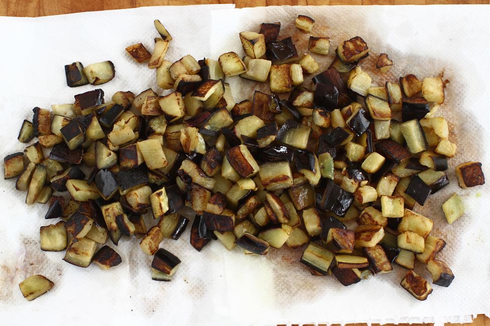 bruschete cu vinete si paine graham vel pitar, preparare 2