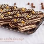 """Prăjitura """"Maria"""" cu ciocolată, alune și nougat, rețetă video"""