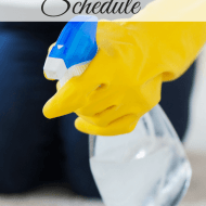 My life is so much easier now that I've developed a work from home cleaning schedule. It's fast, its easy, and I'm giving it to you for free!