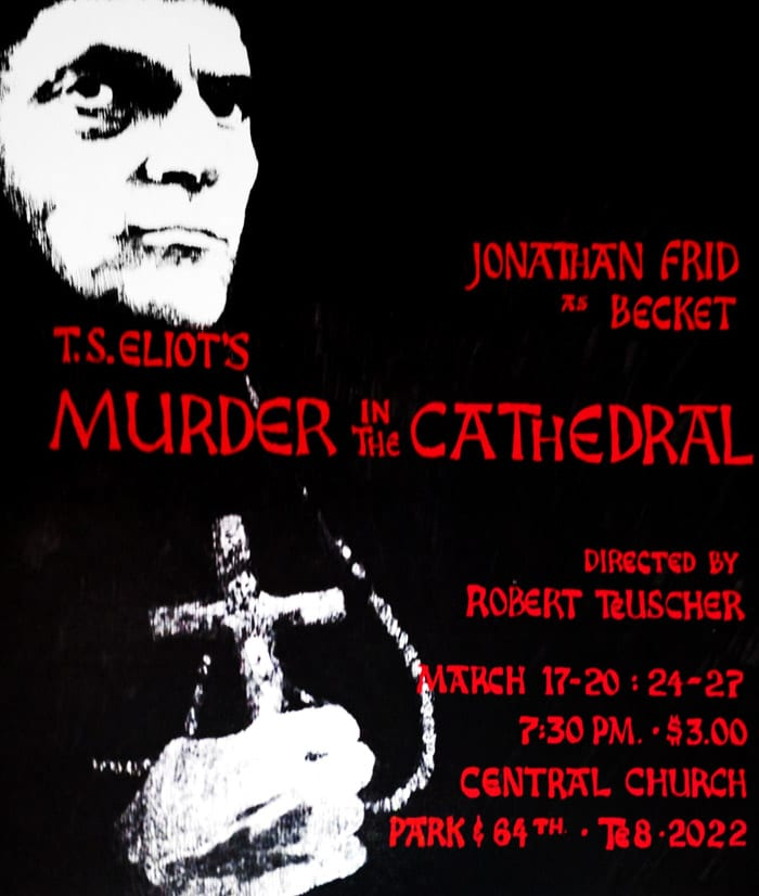 Jonathan Frid in 'Murder in the Cathedral'