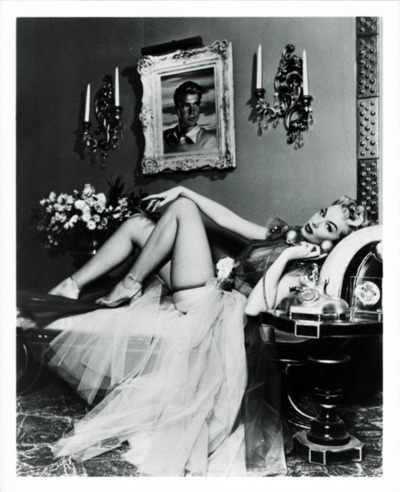 Vintage Lounging Woman