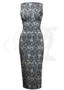 Betty Silver Brocade Wiggle Dress BUY