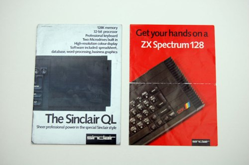 Sinclair QL and ZX Spectrum 128 brochures