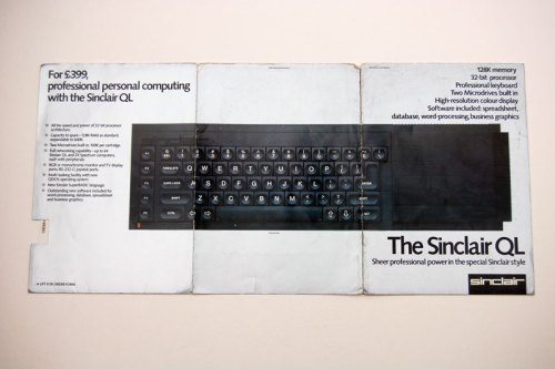The Sinclair QL Brochure opened