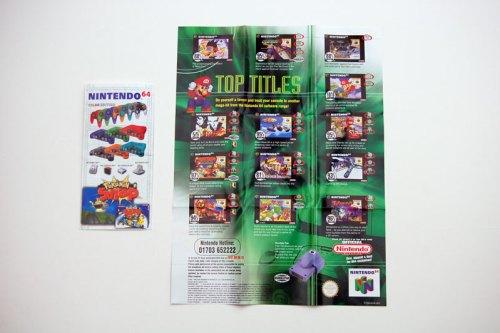 Nintendo 64 brochure and mini poster