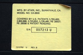 The label from a Sunnyvale Light Sixer. Again, suffixed with a 'U' denoting the PAL region.