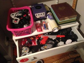Controllers and accessories drawer