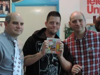 Neil from indieretronews.com with software just signed by the Twins