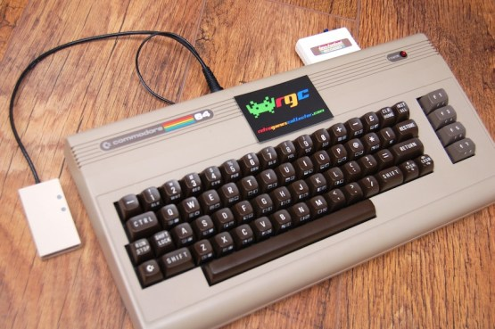 Connected to an original Commodore 64