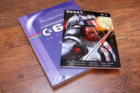 The hardback version of the book pictured with Reset Issue 8.5, made specially for the Kickstarter 40K stretch goal.