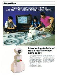 Az AndroMan reklámja.