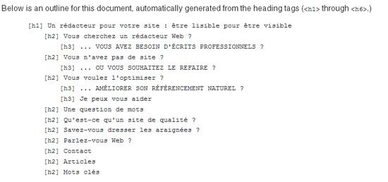 aperçus W3C