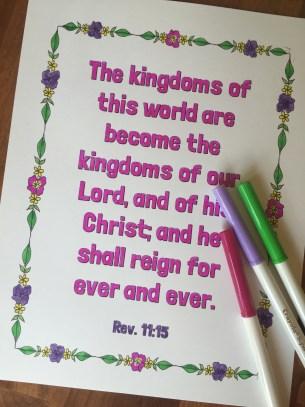 Revelation verse pink