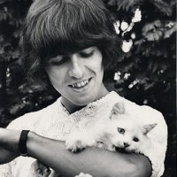 George Harrison with a Cat