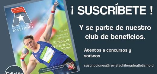 Suscripciones Revista Chilena de Atletismo