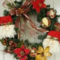 Enfeites de Natal para porta, sugestões diversas