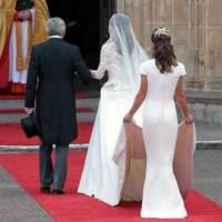 La robe que Pippa Middleton portait au mariage de Kate et William, une copie de cette tenue créée par Sarah Burton et mise en vente en Angleterre...