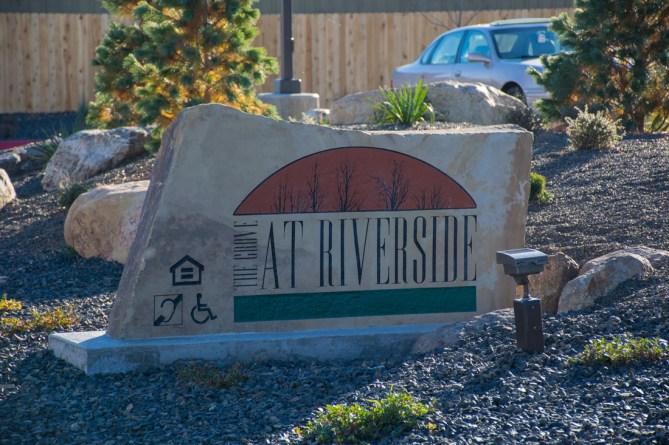 The Grove at Riverside Rexburg Sign