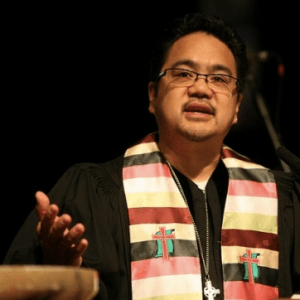 Bruce Reyes-Chow preaching