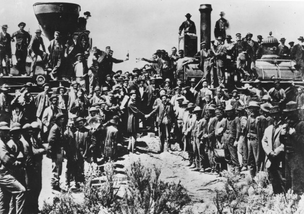 The original photo commemorating the completion of the first transcontinental railroad in 1869 did not include Chinese laborers.