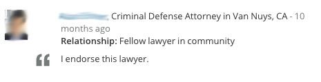 Lawyer Endorsement 8