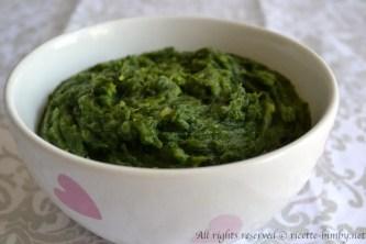 Purè di spinaci bimby 1
