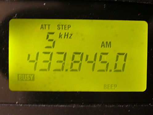 Frequency 433.845 MHz
