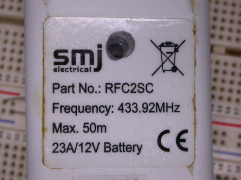 SMJ RFC2SC label says 433.92 MHz