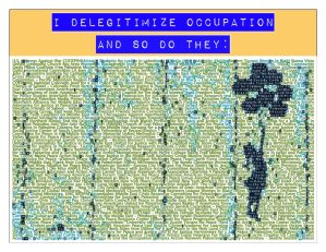 I Delegitimize Occupation