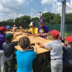 Autograph session at RHS baseball camp