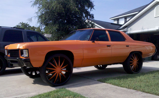 rides, cars, chevy, chevrolet, impala, orange