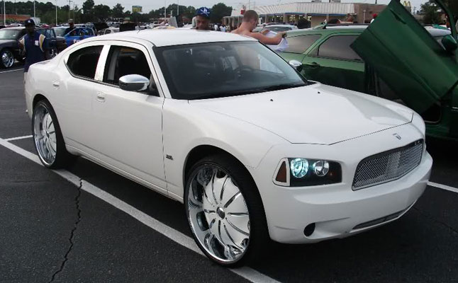 rides cars dodge charger white