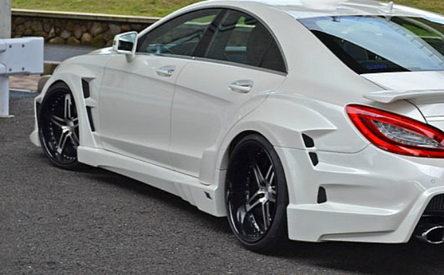 featured-hp rides vitt mercedes cl cls aggressively tuned white modified body kit