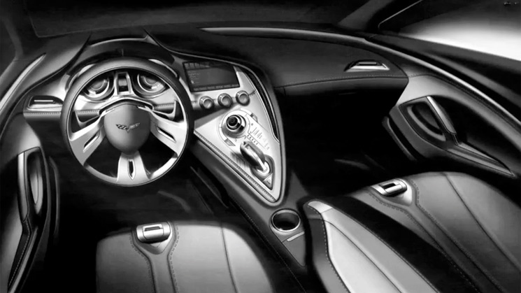 corvette-interior-style stingray 2014 chevrolet design concept drawing