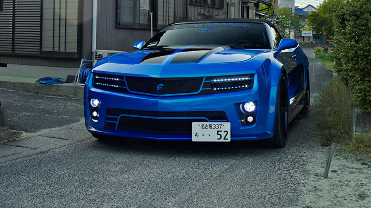 japan chevrolet chevy camaro maro forgiato difalco grille widebody