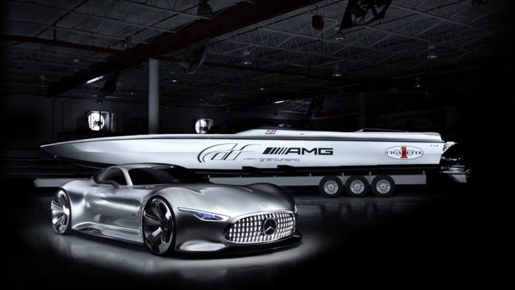 Cigarette AMG Electric Drive boat mercedes benz sony rides magazine
