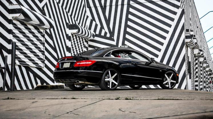 Mercedes Benz E350 Black 2012 20 inch XO Miami Brushed Matte Black