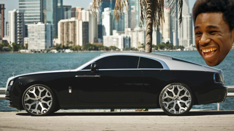 (1. Cleveland Cavaliers - Andrew Wiggins) You're the number one pick, ball hard on the court and off with the Rolls-Royce Wraith.