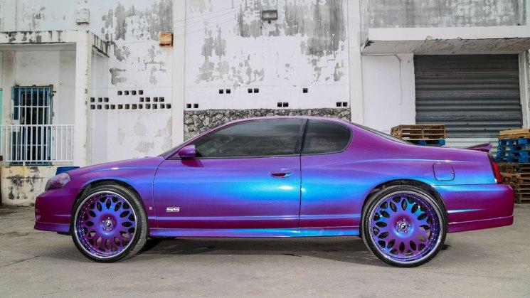 solomon lunger rides magazine big dogg customz opa locka florida outrageous purple forgiato grano chevy chevrolet monte carlo ss 2007