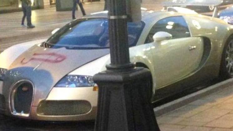 Bugatti, Veyron, Vandalized