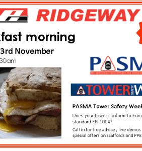 Breakfast Morning Celebrating Tower Safety Week at Ridgeway